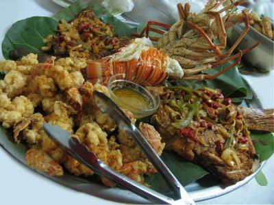 lobster snapper conch platter